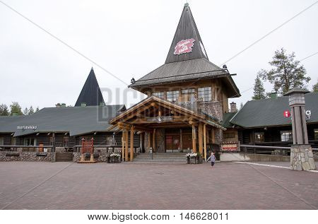 Rovaniemi, Finland - 24 June 2015: Santa Claus Village, Arctic Circle.