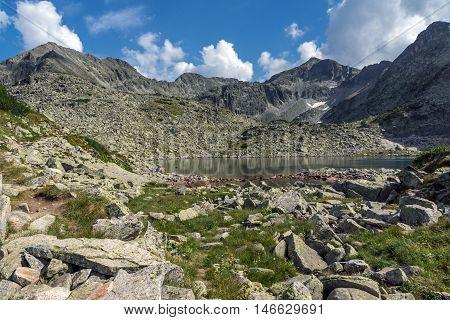 Clear sky over Musala and Irechek peaks and Musalenski lakes,  Rila mountain, Bulgaria