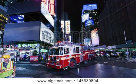 Times Square, The Truck Of New York Fire Department