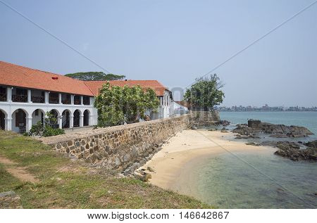 On the old, historic waterfront of the city-fortress of Galle. Sri Lanka