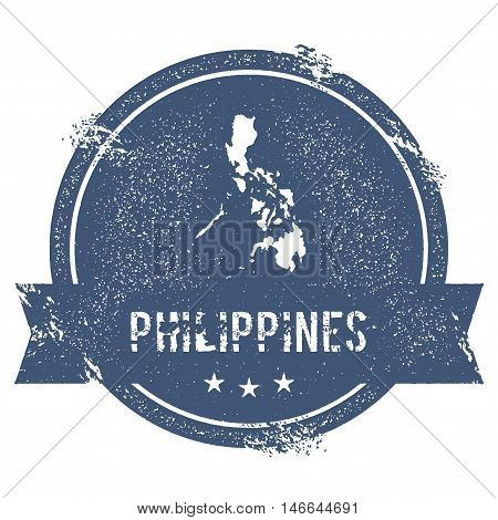 Philippines Mark. Travel Rubber Stamp With The Name And Map Of Philippines, Vector Illustration. Can