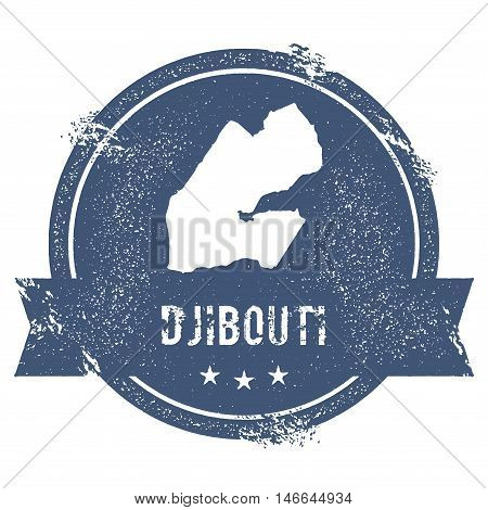 Djibouti Mark. Travel Rubber Stamp With The Name And Map Of Djibouti, Vector Illustration. Can Be Us
