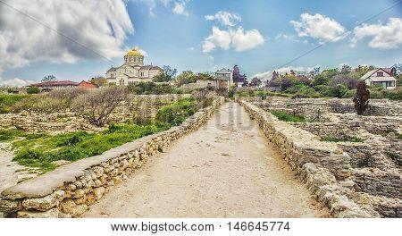 St. Vladimir's Cathedral in Chersonese Sevastopol Crimea Russia.