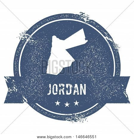Jordan Mark. Travel Rubber Stamp With The Name And Map Of Jordan, Vector Illustration. Can Be Used A
