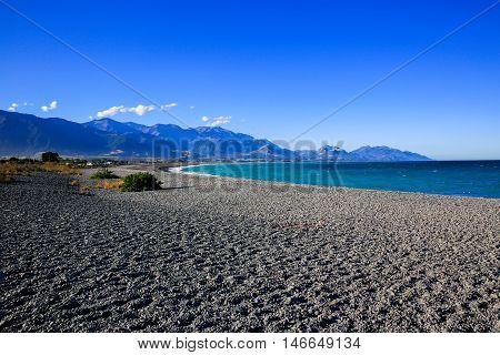 Kaikoura Beach South Island in New Zealand.