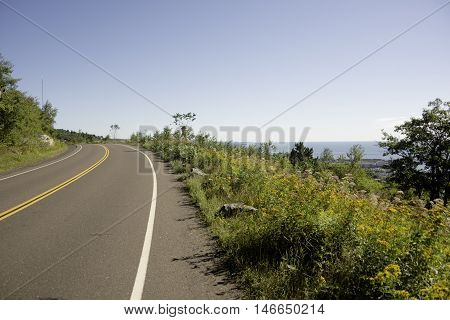 Skyline Drive in Duluth, Minnesota in the Summer.