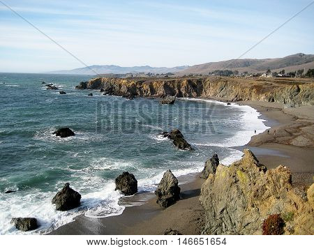 Beach in Sonoma Coast State Park (California)