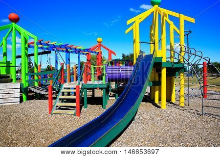 Picture Of Colorful Playground With Equipment, Levin, New Zealand