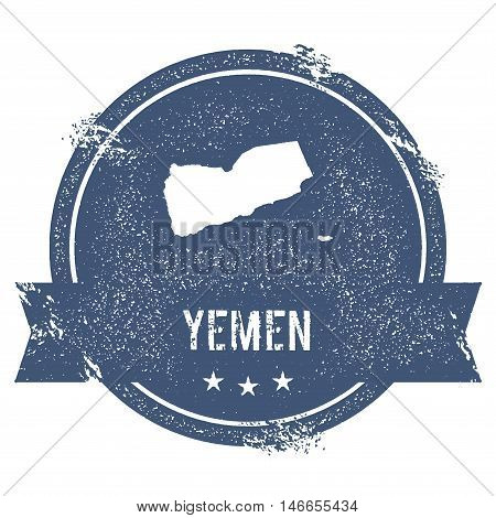 Yemen Mark. Travel Rubber Stamp With The Name And Map Of Yemen, Vector Illustration. Can Be Used As