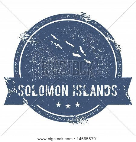 Solomon Islands Mark. Travel Rubber Stamp With The Name And Map Of Solomon Islands, Vector Illustrat