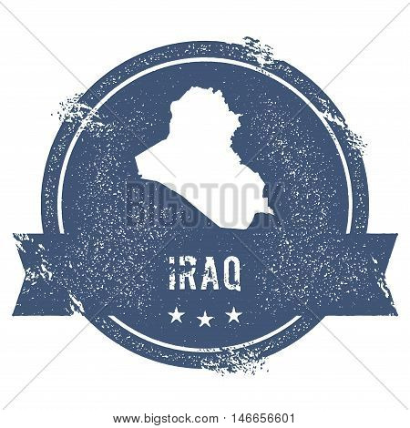 Iraq Mark. Travel Rubber Stamp With The Name And Map Of Iraq, Vector Illustration. Can Be Used As In