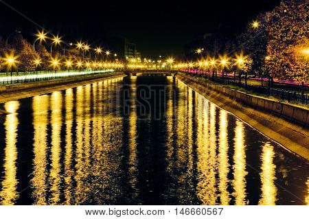 Dazzling Lights By The River