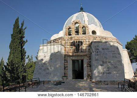 Franciscan church on the Shepherds' Fields in Palestine