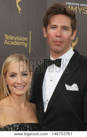 LOS ANGELES - SEP 10:  Joanne Froggatt, James Cannon at the 2016 Creative Arts Emmy Awards - Day 1 - Arrivals at the Microsoft Theater on September 10, 2016 in Los Angeles, CA