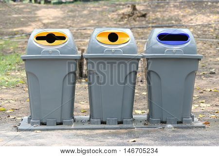 Trash Classify of object filth to the use for recycledconcept of reducing global warming and the environment.