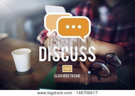 Discuss Argument Debate Talking Negotiation Discussion Concept