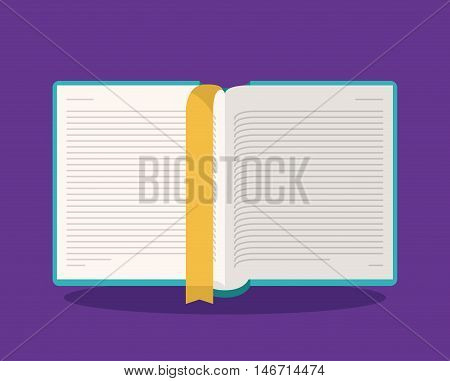 book open read library literature learning knowledge icon. Colorful design. Vector illustration