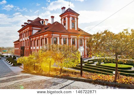 baroque Troja castle and french gardens, Prague,  Czech republic