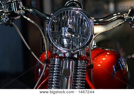 Front Headlight On A Motorcycle