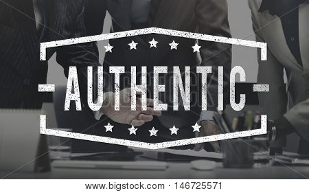 Authentic Business People Company Concept