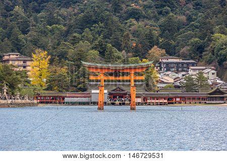 Miyajima, Hiroshima, famed floating torii gate Japan