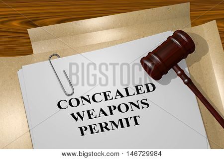 Concealed Weapons Permit - Legal Concept