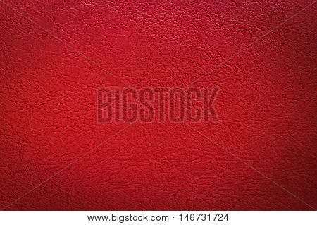 Close up red leather and texture background