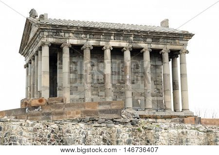 Ancient Garni pagan Temple, the hellenistic temple in  Armenia poster
