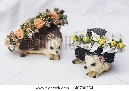 Hoop From Flowers, Wreath With Colored Flowers. Handmade Flowers