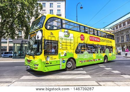 Touristic Bus In Vienna, Spain.
