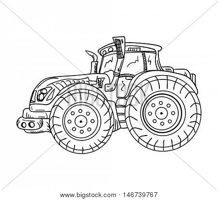 vector - isolated on background - tractor