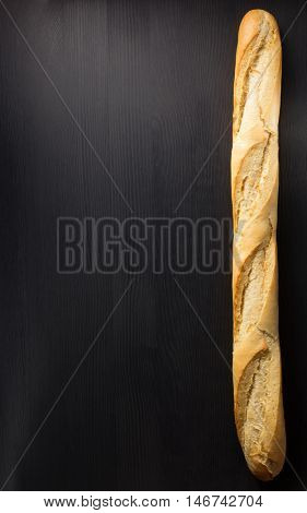 french bread on wooden  background