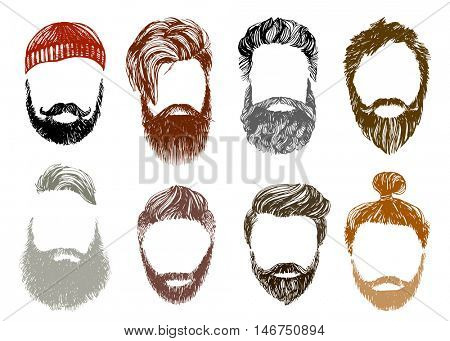 Hand drawn hipster style and fashion vector illustration
