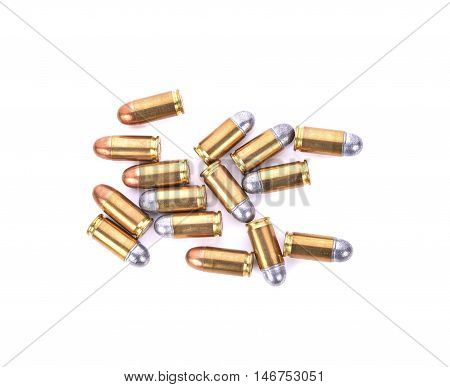 Bullets on white background . . .