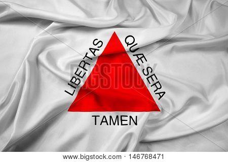Waving Flag Of Minas Gerais State, Brazil