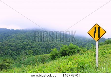 Fog cover on the mountain in morning time , Phu Ruea National park -Natual travel location in Loei,Thailand
