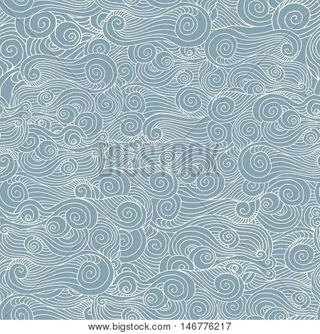 vector spiral pattern whorl seamless texture blue sea