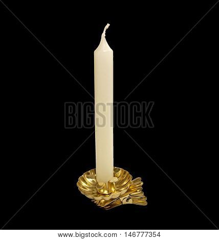 Candlestick for Christmas Tree Candles on a black background
