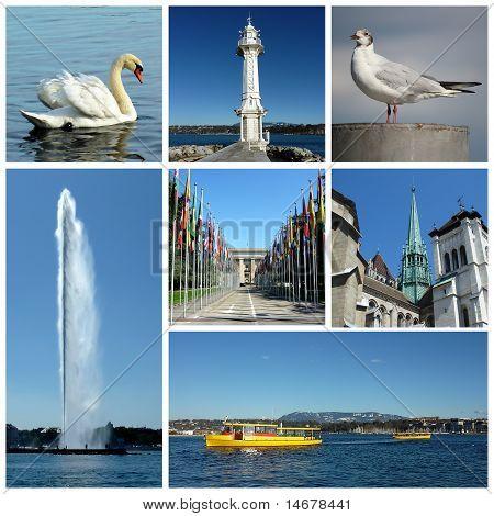 Geneva, Switzerland Collage