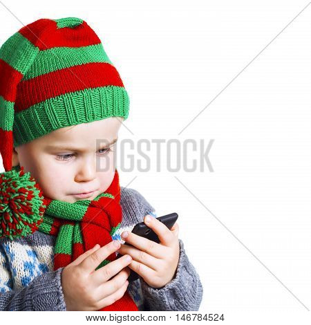 Boy Sends A Text Message With A Christmas Wish To Santa
