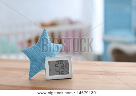 Digital temperature and humidity control in baby room