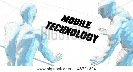 Mobile Technology Discussion and Business Meeting Concept Art 3D Render