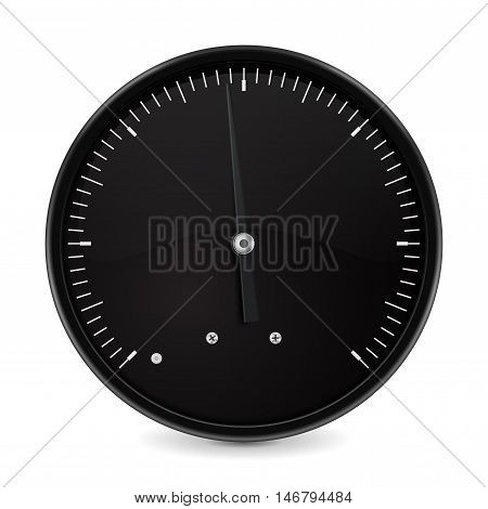 Measuring gauge. Universal dial. Vector illustration isolated on white background