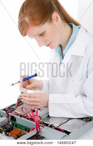 Female Support Computer Engineer - It Woman