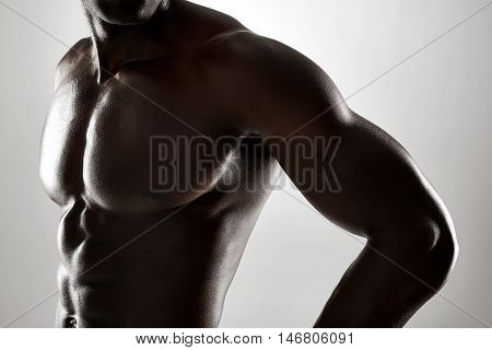 Young African Man With Muscular Body