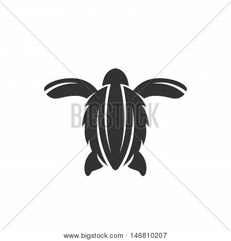 Sea turtle Icon isolated on a white background. Sea turtle Logo design vector template. Simple Logotype concept icon. Symbol, sign, pictogram, illustration - stock vector