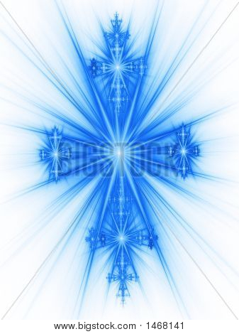 Blue Ray Cross Of Easter