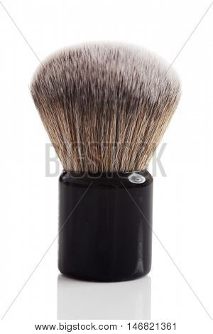 small foundation makeup brush isolated on white poster