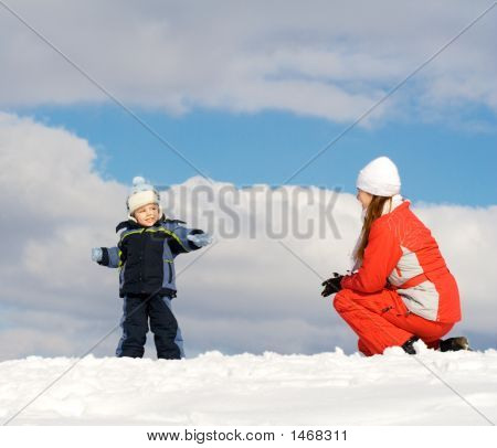 Boy Played With Mother