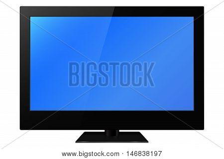 LCD plasma tv. Vector illustration on white background